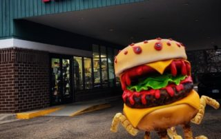 The Makery Cake Company Cheeseburger Cake Monster Escapes