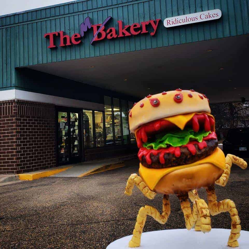 The Makery Cake Company Cheeseburger Cake Monster