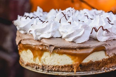 Chocolate Salted Caramel Pie Topped Cheesecake