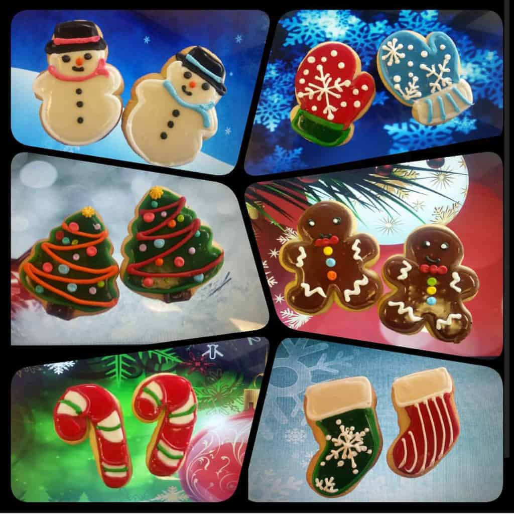 The Makery Cake Company Christmas Cookie Collage