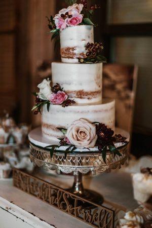 naked wedding cake in denver