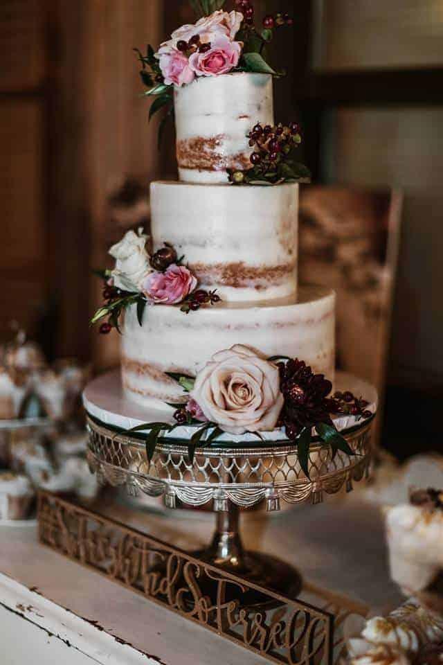 The Makery Cake Company Crumb Coated Wedding Cake