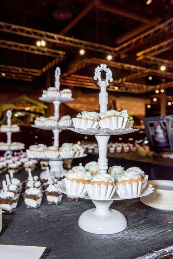 Cupcake Stand Set Up At Bites And Bottles 2018 Featuring