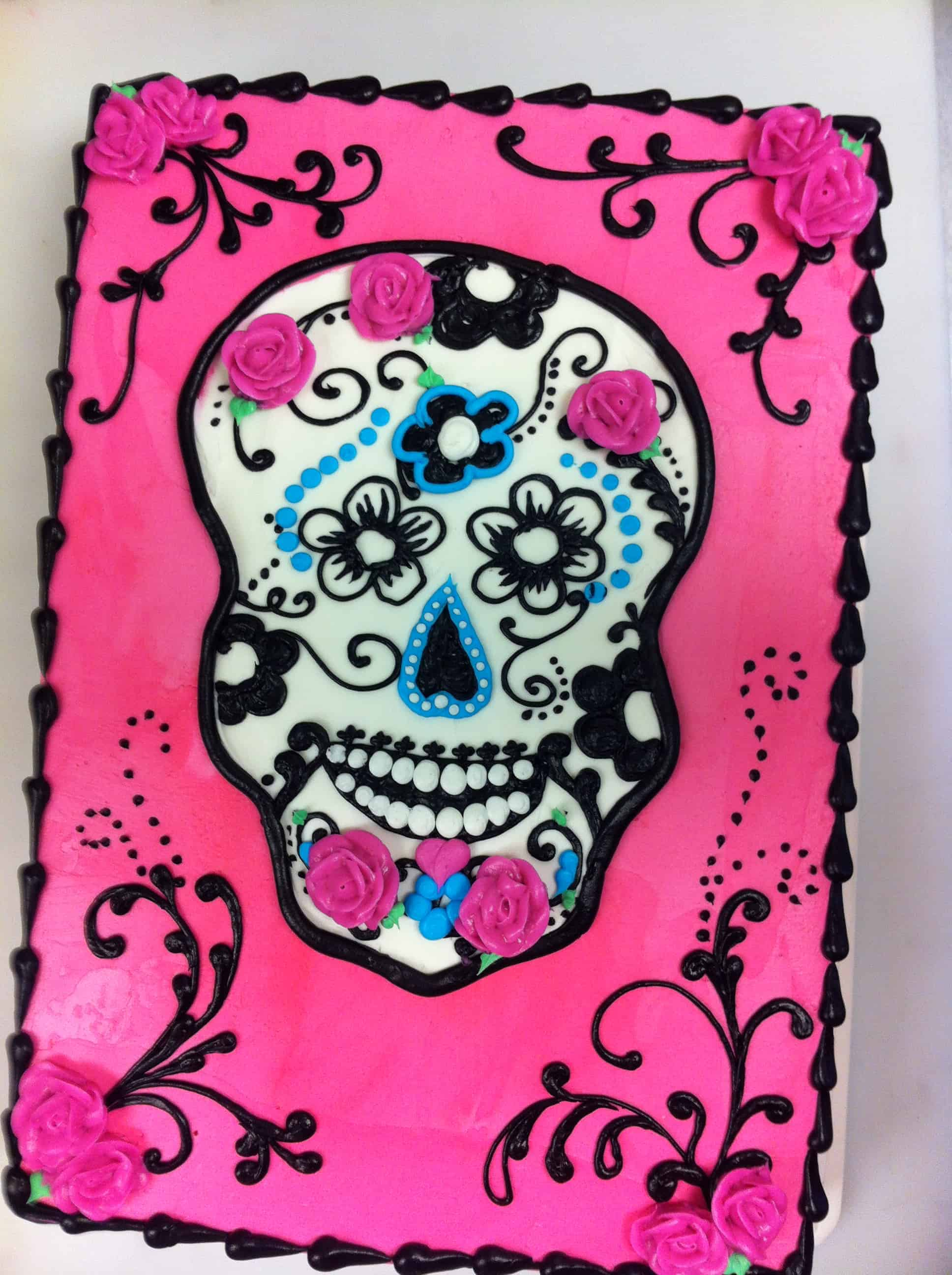 Day of the Dead Sheet Cake