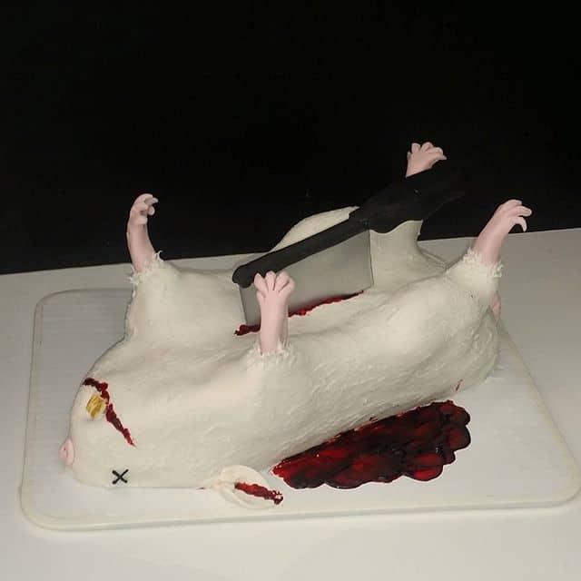 The Makery Cake Company Dead Rat Cake