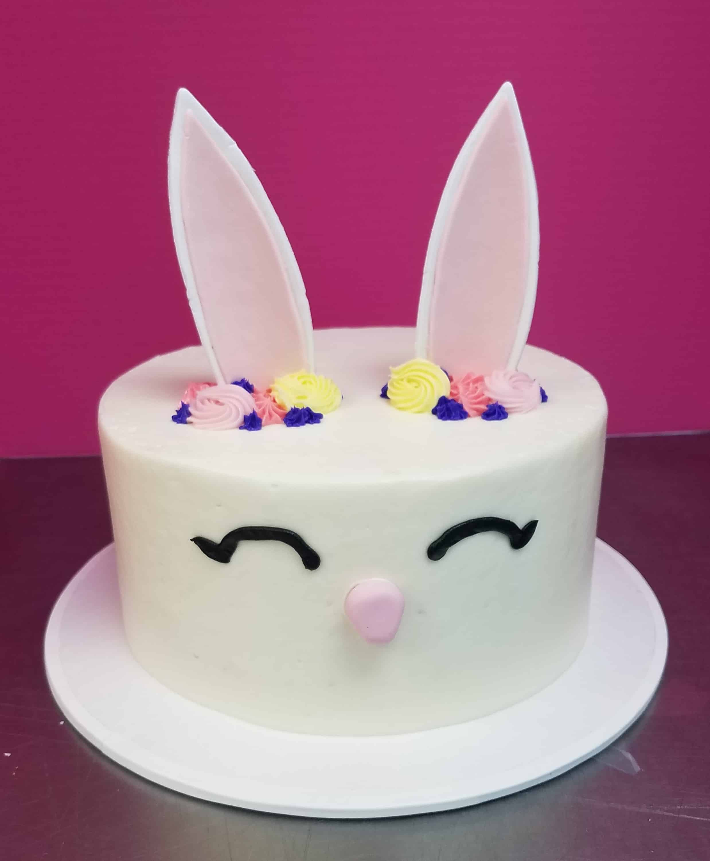 The Makery Cake Company Easter Bunny Face Cake