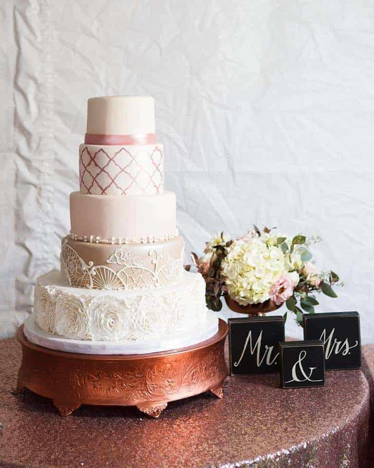 The Makery Cake Company Elegant Peuter and Ruffle Cake