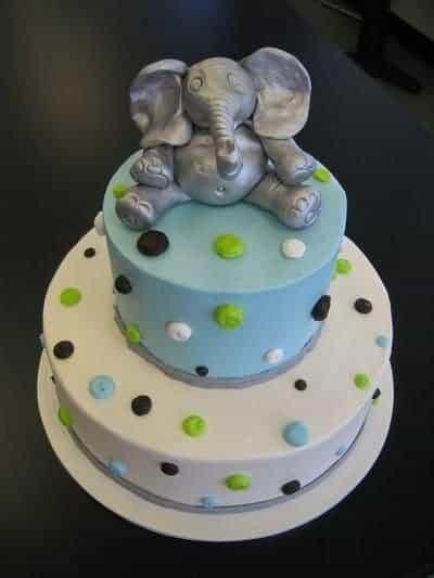 The Makey Cake Company Elephant Baby Shower Cake