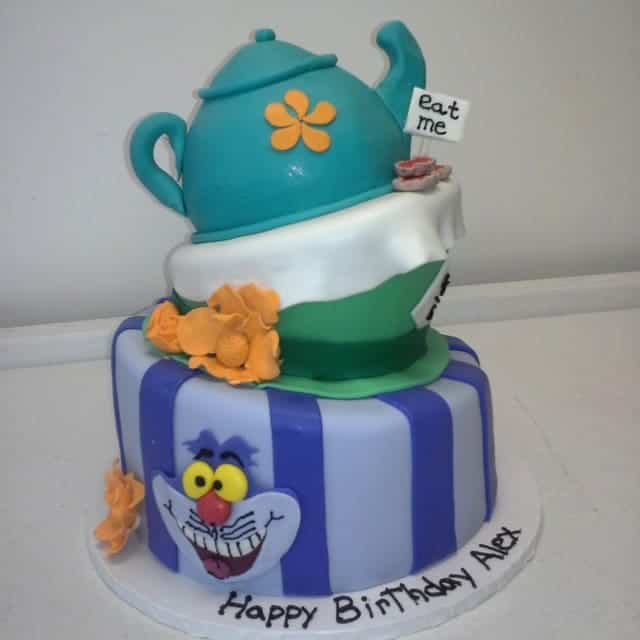 The Makery Cake Company Fairytale Teapot Tiered Birthday Cake