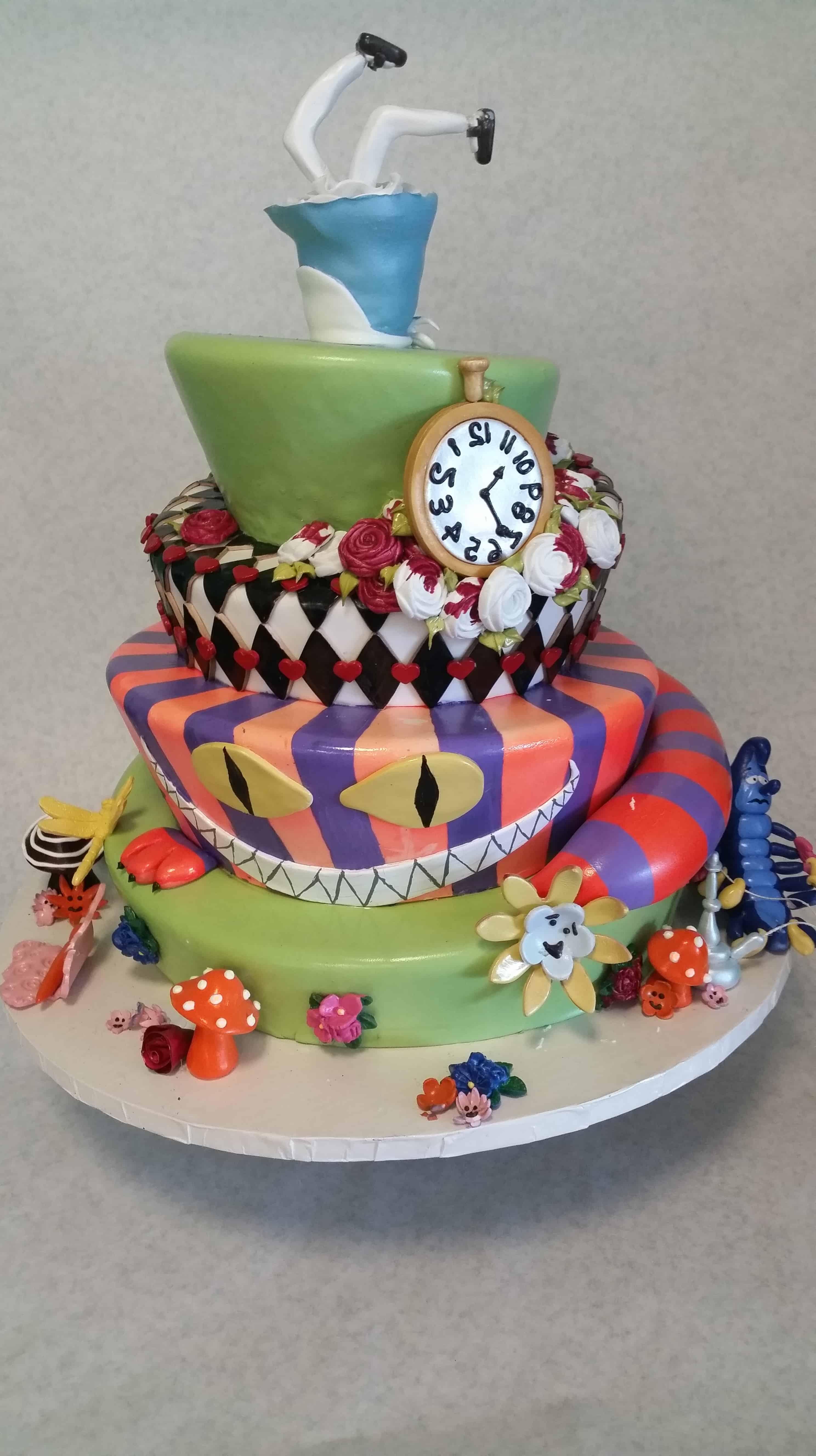 The Makery Company Cake Fairytale Topsy Turvy Cake with Clock