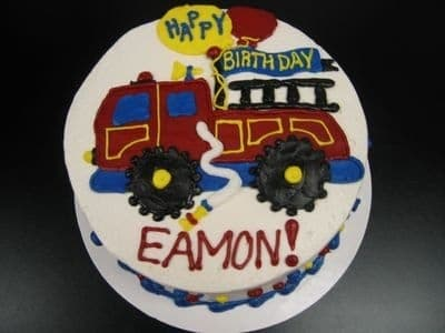 The Makery Cake Company Firetruck Birthday Cake