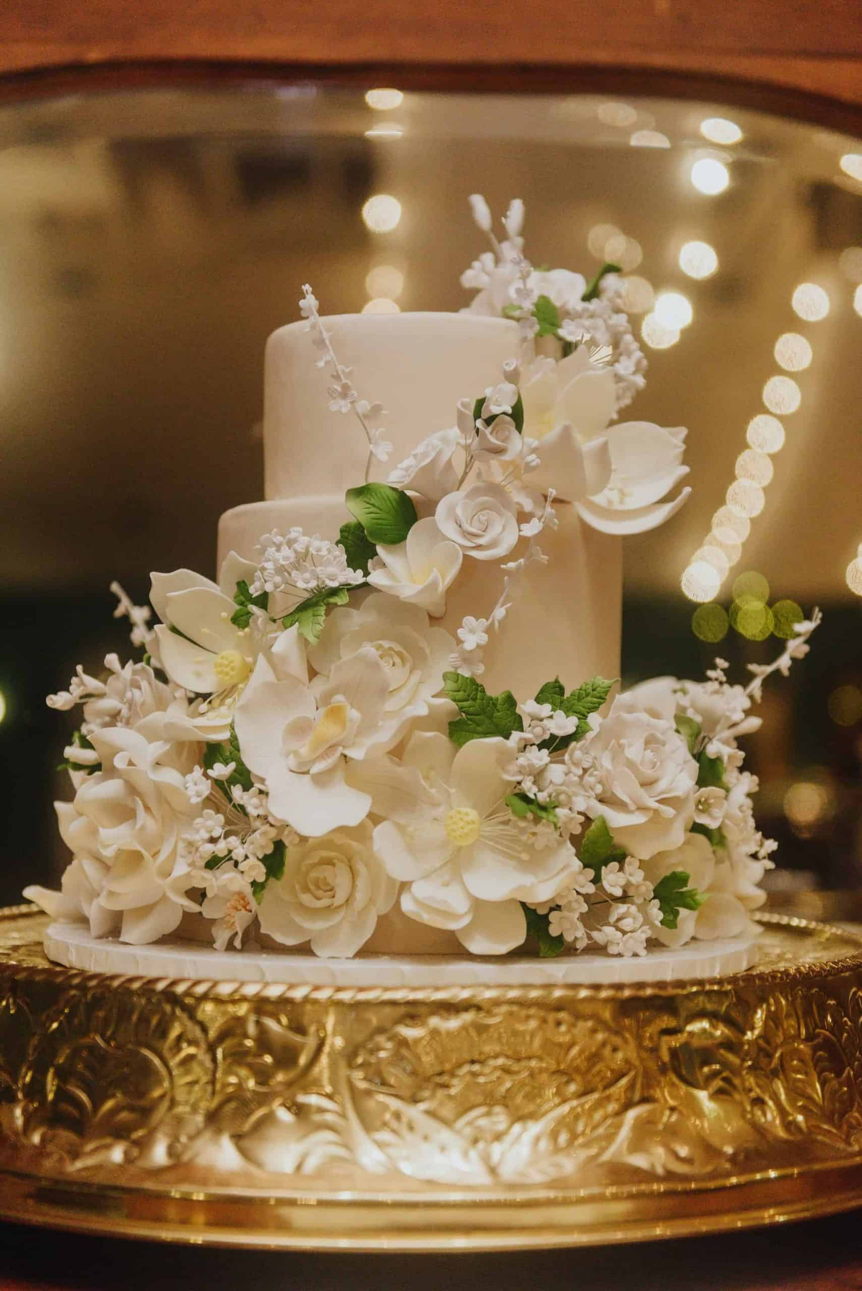 The Makery Cake Company Floral Covered Wedding Cake