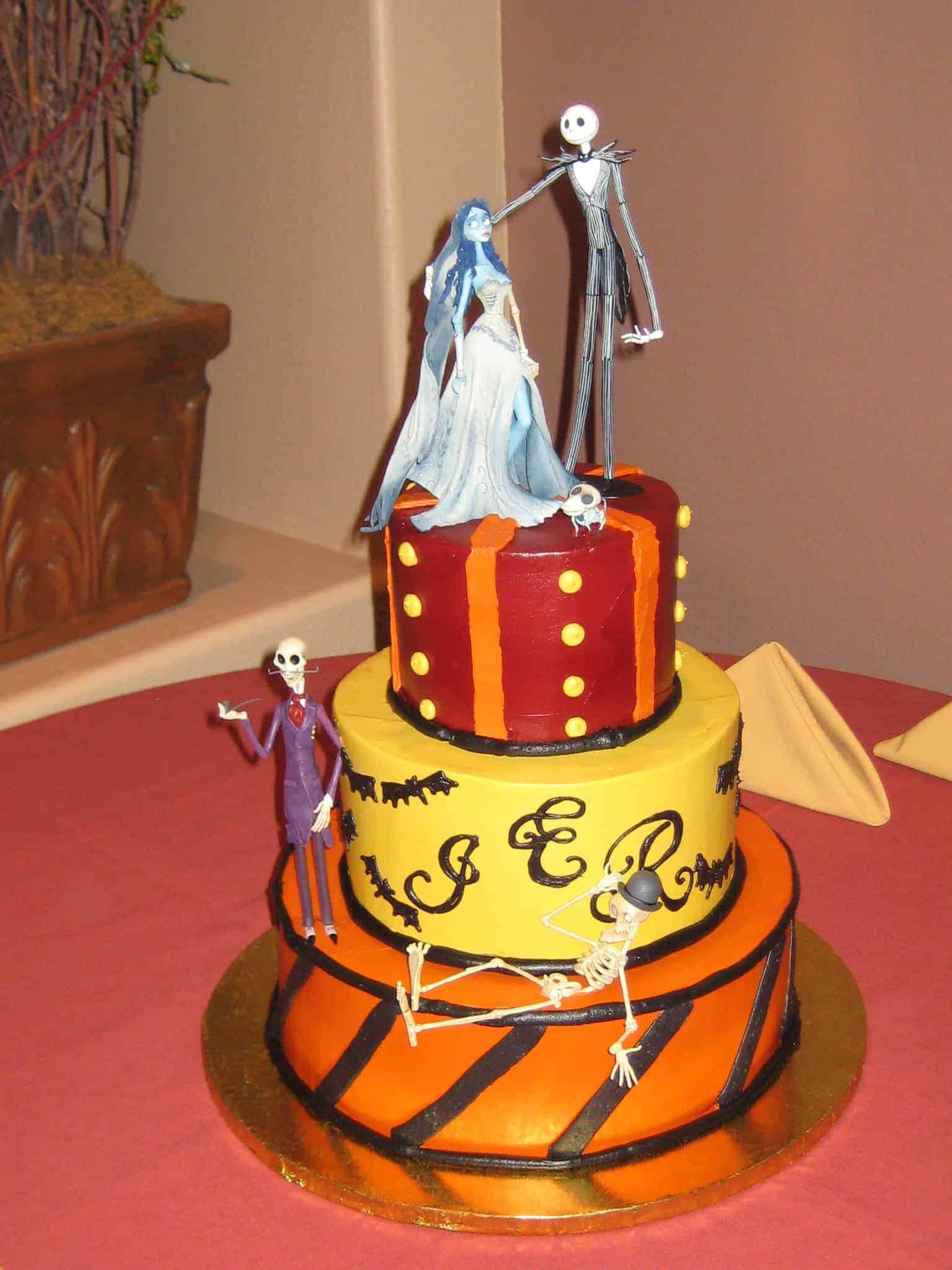 The Makery Cake Company Halloween Wedding Cake
