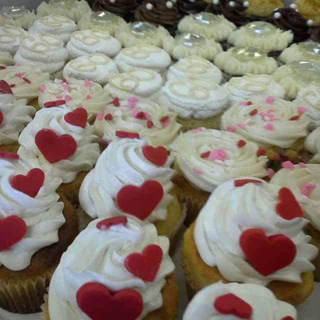 The Makery Cake Company Heart Covered Cupcakes