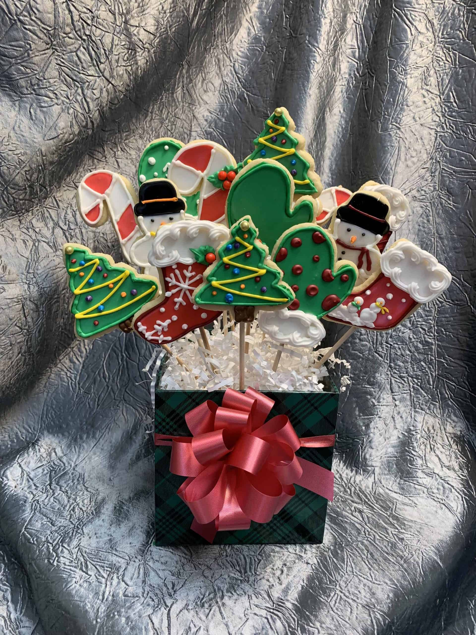 The Makery Cake Company Holiday Cookie Bouquet