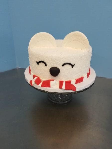 Holiday Polar Bear Cake
