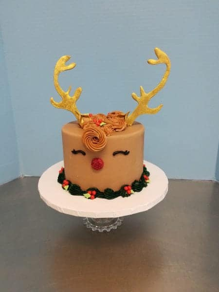 Holiday Reindeer Cake