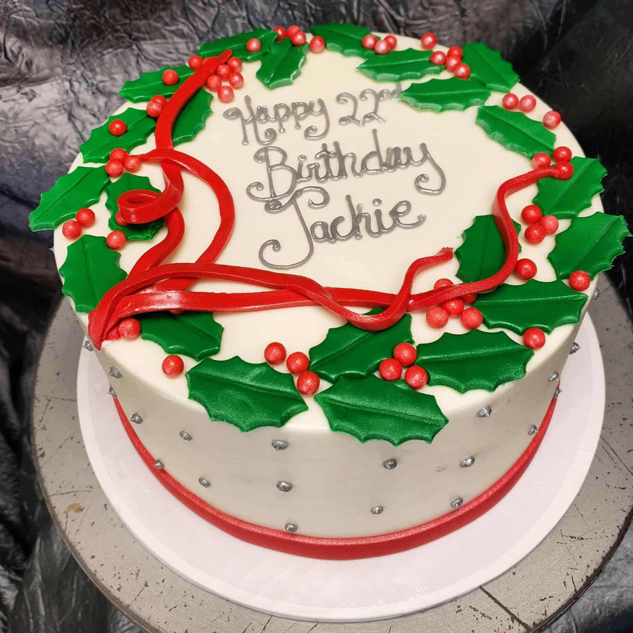 The Makery Cake Company Holiday Wreath Cake