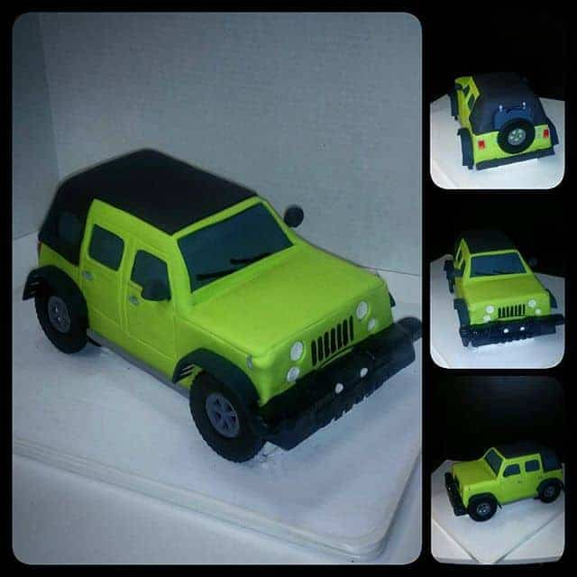 Jeep Cake 3D Sculpted