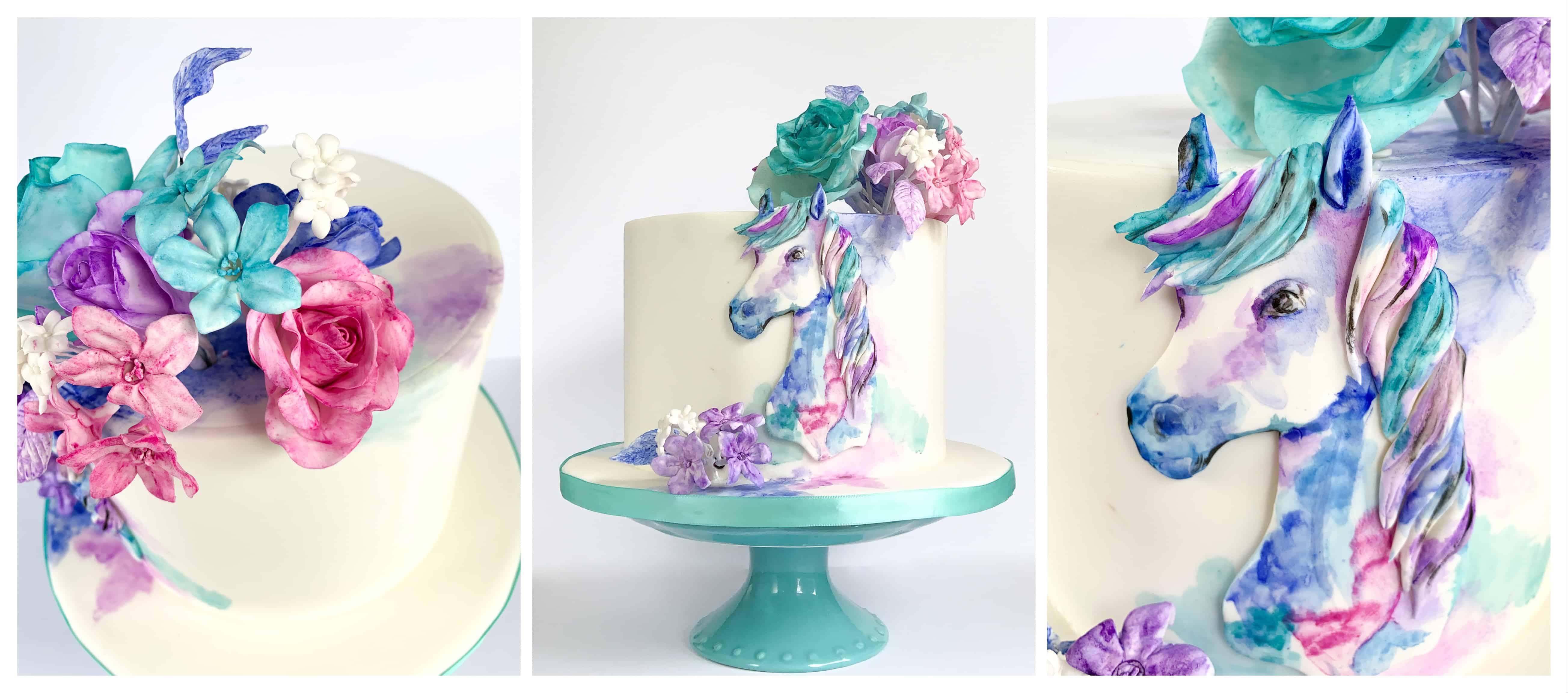 The Makery Cake Company Painted Horse Cake