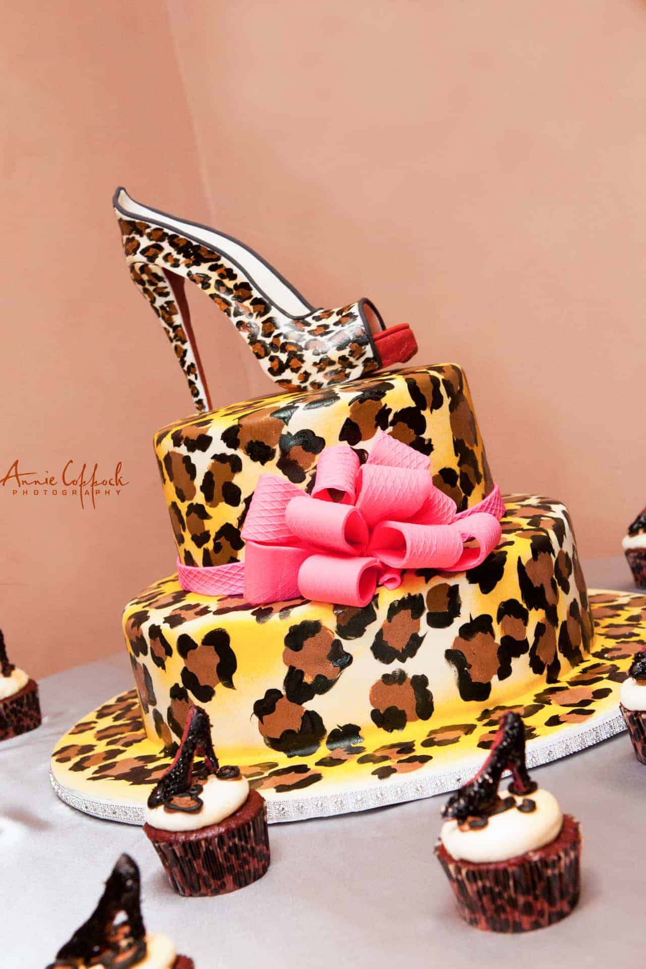 The Makery Cake Company Leopard Print Tiered Cake