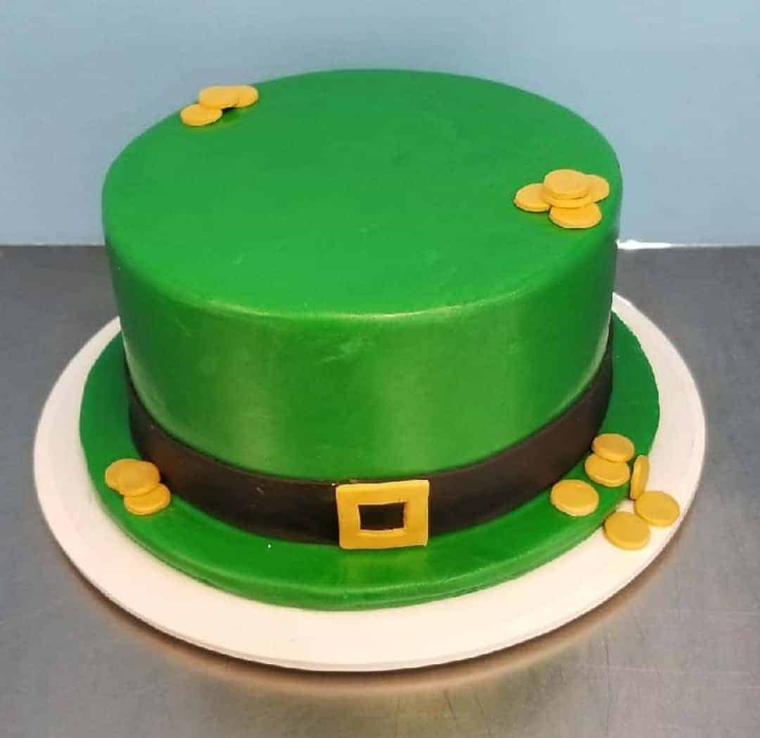 Leprechan Hat Cake With Edible Gold Coins