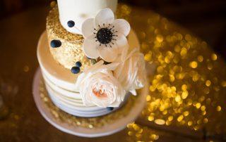Gold and black wedding cake