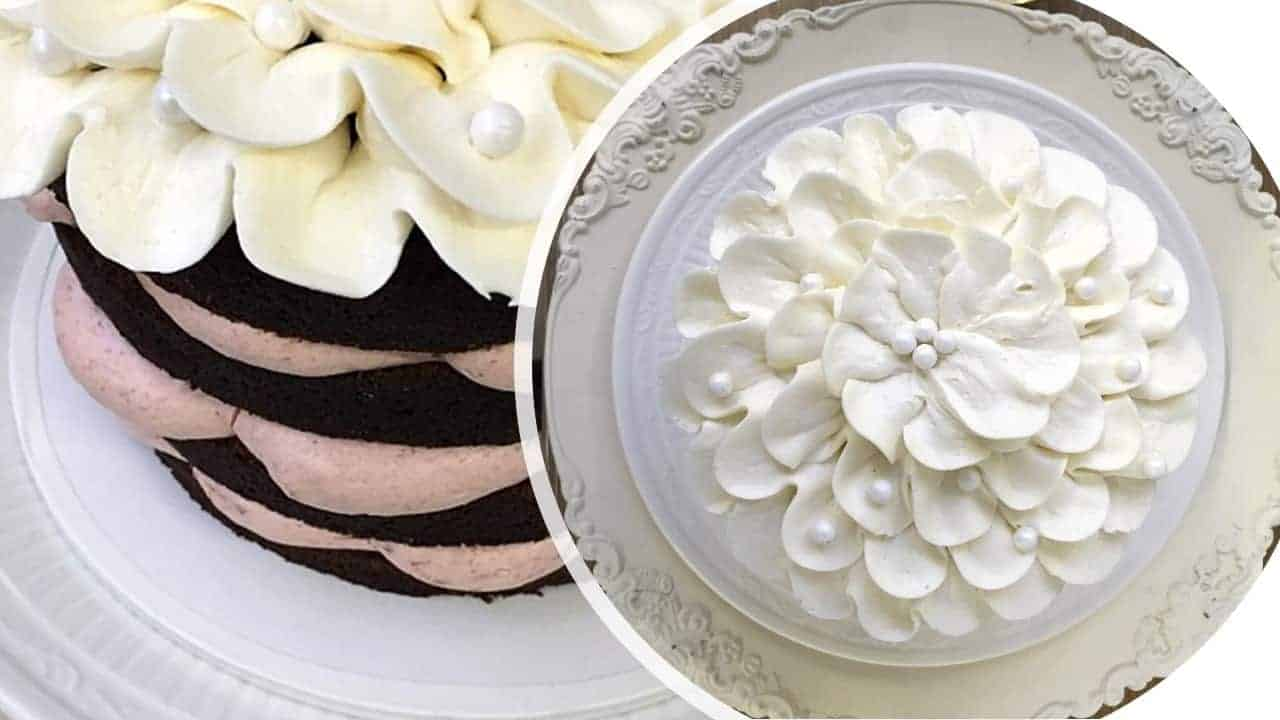 The Makery Cake Company Buttercream Flower on Top Cake