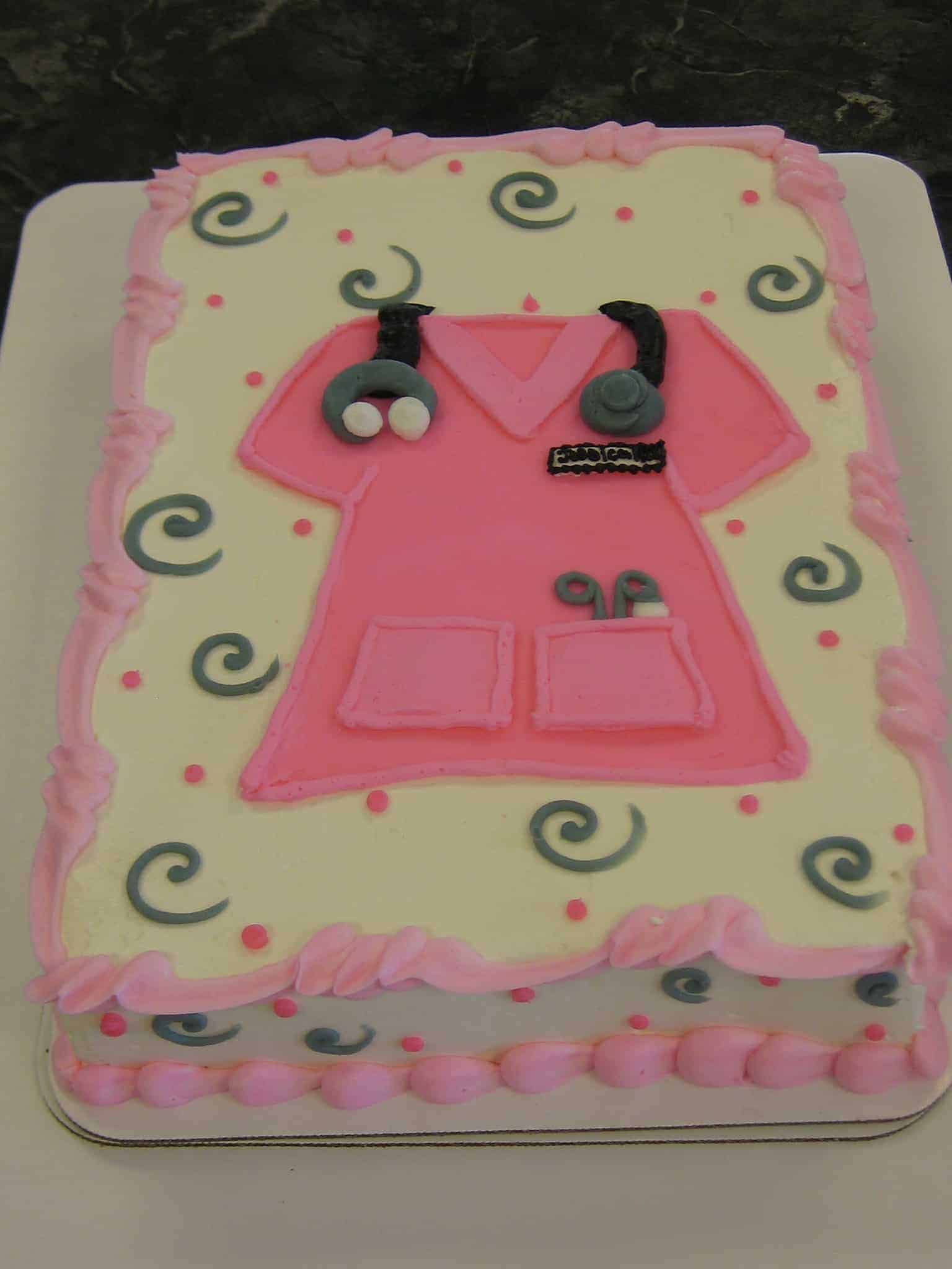 The Makery Cake Company Nursing Graduation Cake