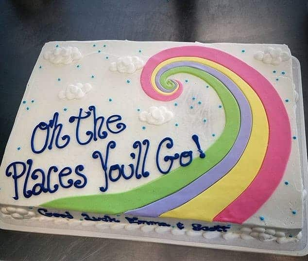 The Makery Cake Company Graduation Rainbow Cake