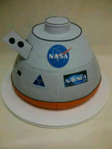 The Makery Cake Company Orion Space Capsule Cake