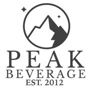 Peak Beverage Logo with mountain