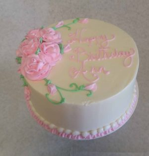 Superb Pretty Pink Birthday Cake The Makery Cake Co Birthday Cards Printable Riciscafe Filternl