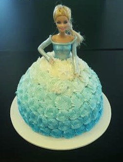 Princess Cake with Ombre Skirt
