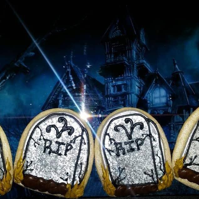 The Makery Cake Company RIP Halloween Cookies