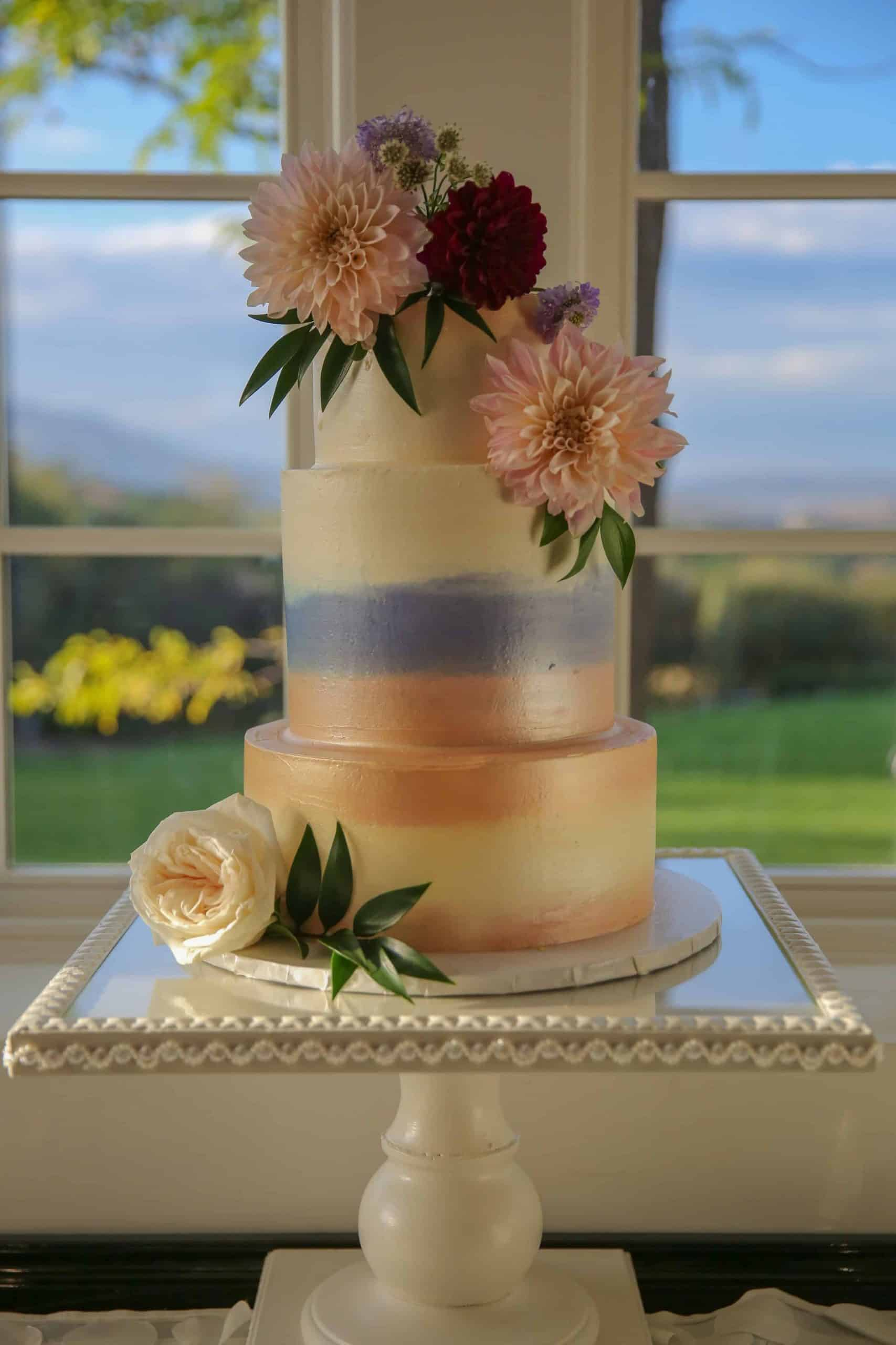 The Makery Cake Company Plain with Flowers Cake
