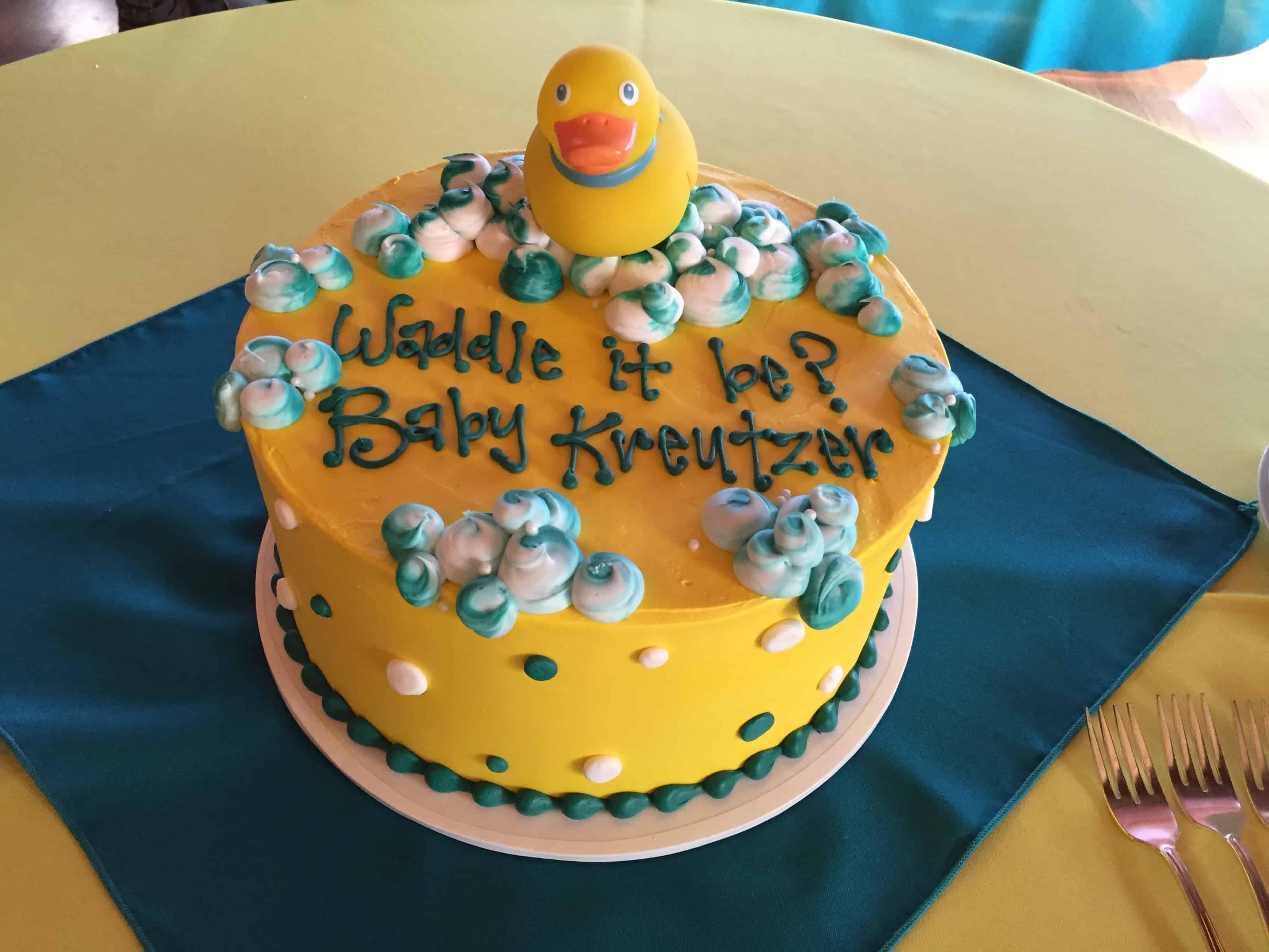 The Makery Cake Company Rubber Ducky Cake