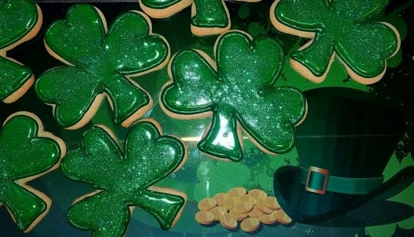 Shamrock Sparkle Cookies