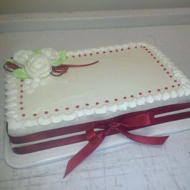 The Makery Cake Company Sheet Engagement Cake