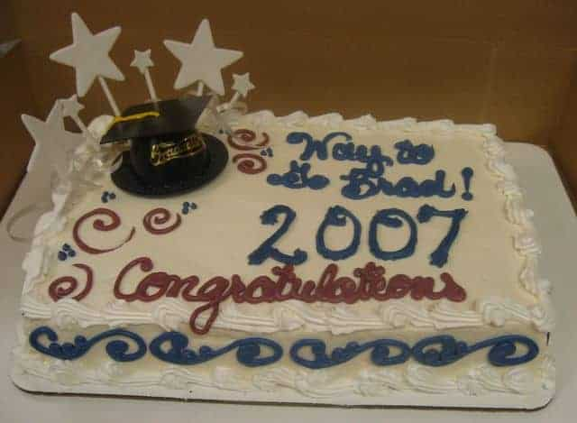 The Makery Cake Company Graduation Cake