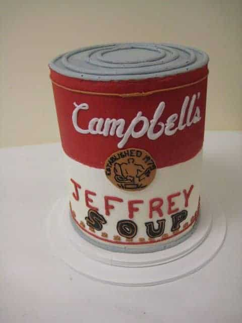 The Makery Cake Company Soup Can Cake