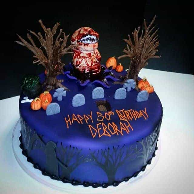 Wondrous Spooky Cemetary Cake The Makery Cake Co Funny Birthday Cards Online Inifofree Goldxyz