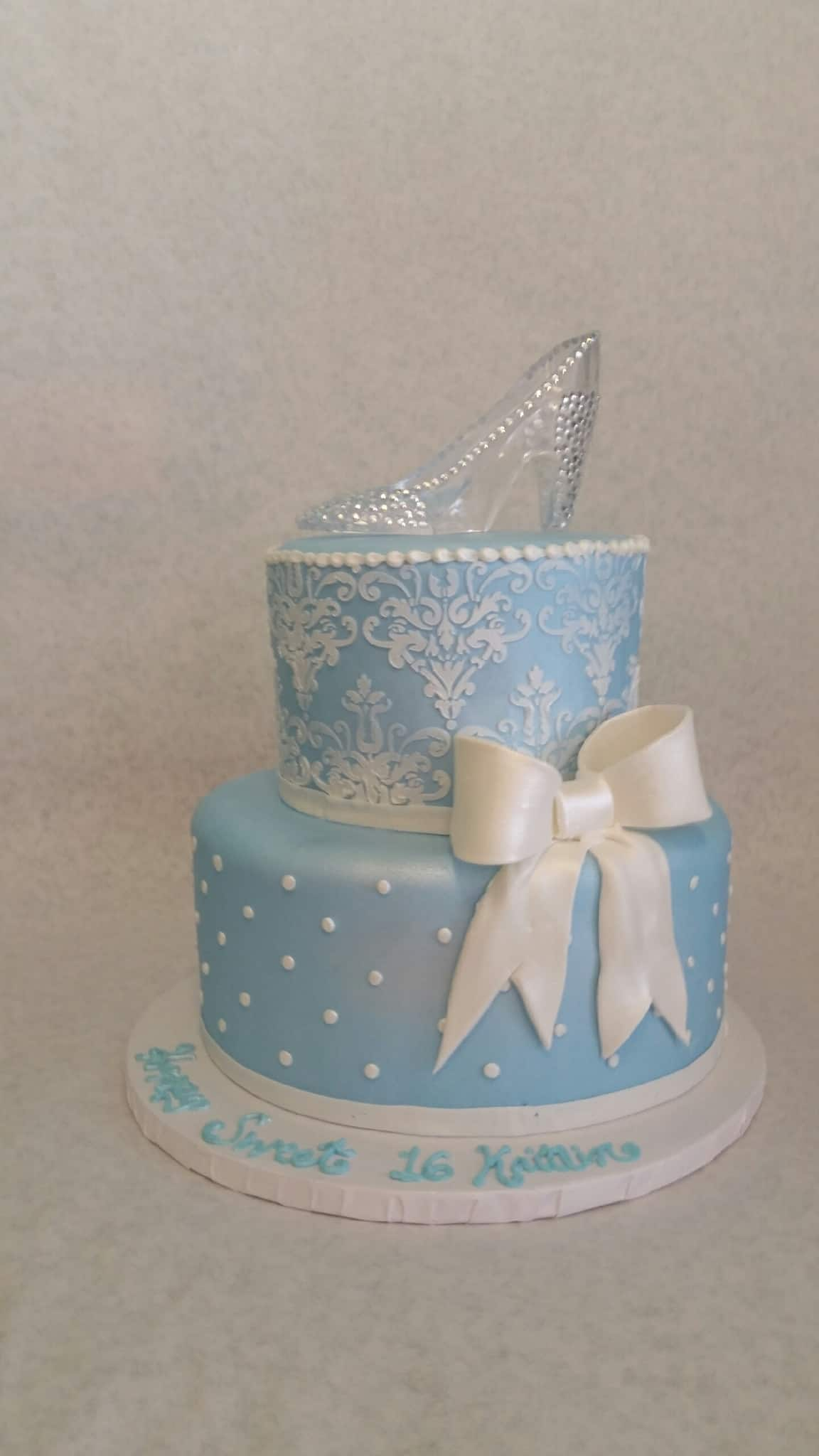 The Makery Cake Company Sweet 16 Cake Light Blue