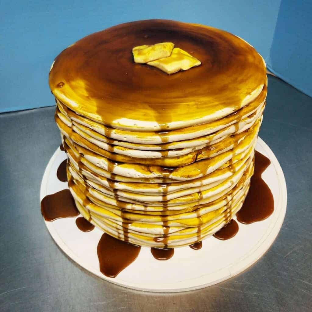 The Makery Cake Company Tall stack of Pancakes Cake
