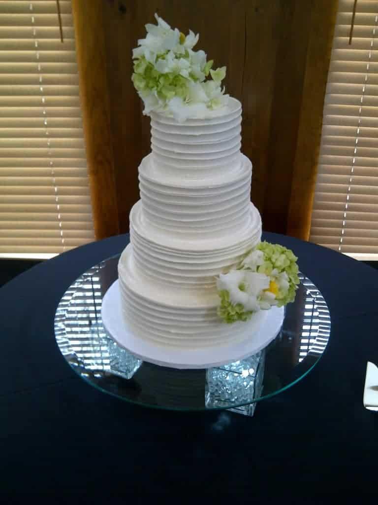 The Makery Cake Company Textured Wedding Cake