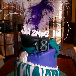 Topsy Turvy Feather Cake