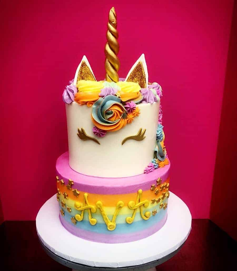 The Makery Cake Company Unicorn with Pastel Frosting Cake