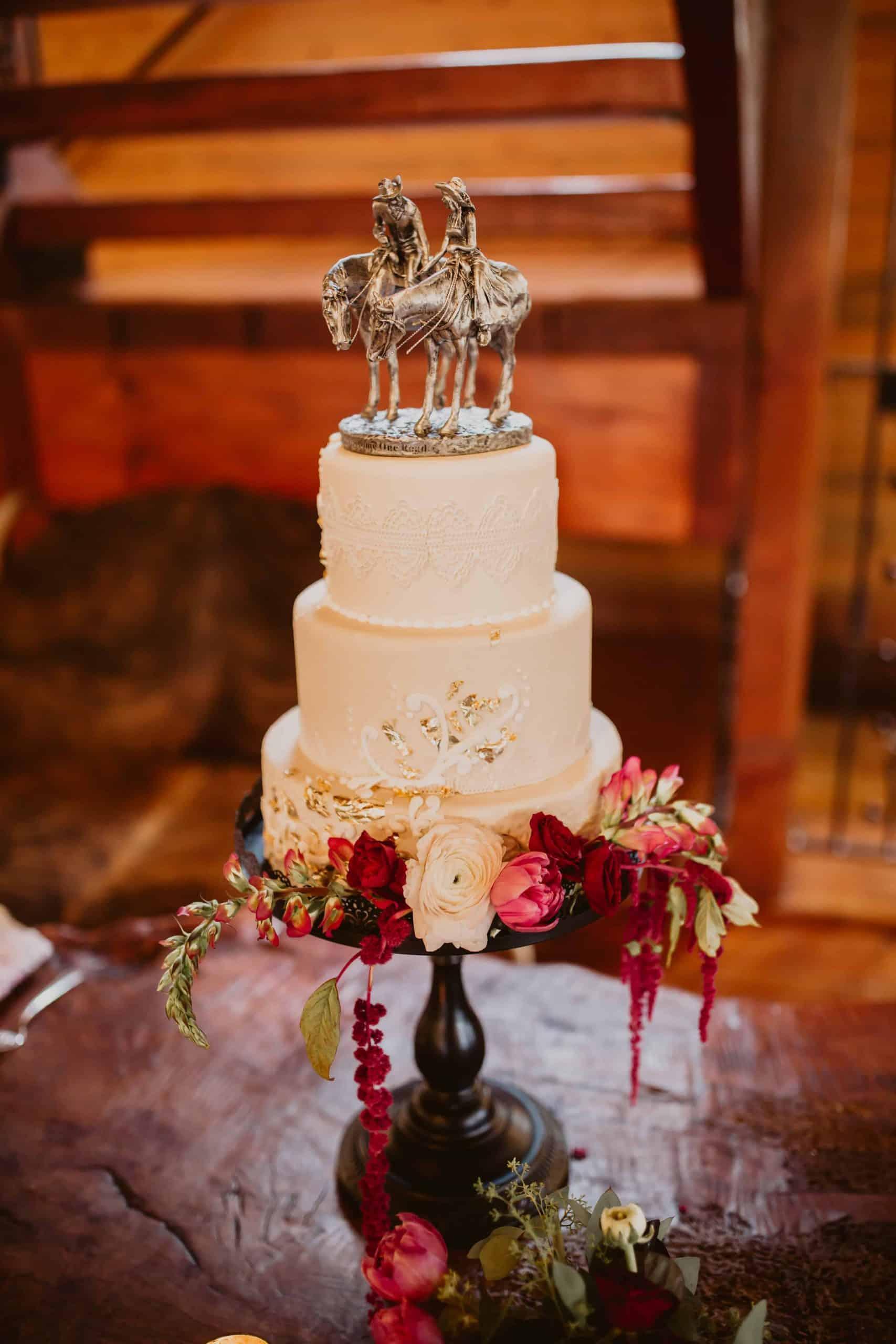 The Makery Cake Company Western Theme Wedding Cake