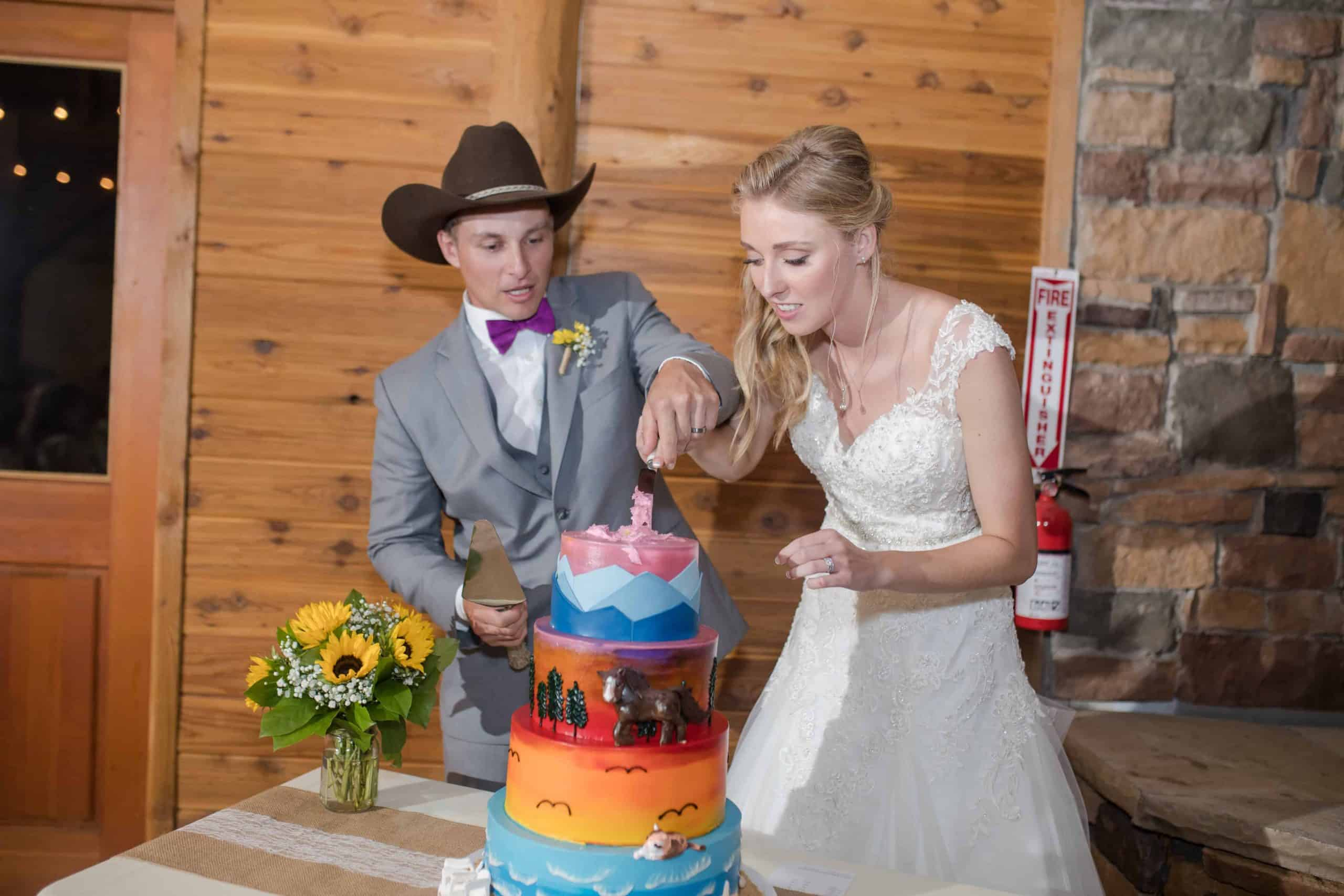 The Makery Cake Company Wedding Cowboy Cake