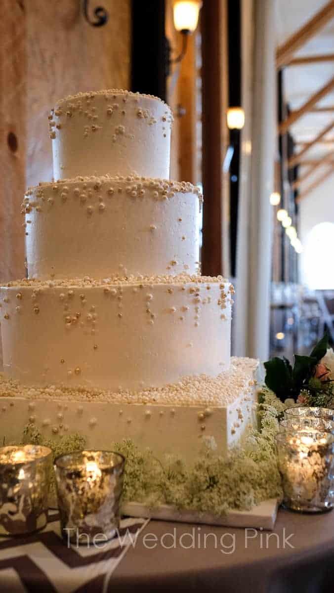 The Makery Cake Company White and Cream Pearl Cake